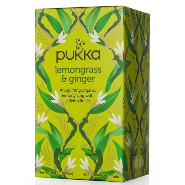 Bilde av Pukka Lemongrass & Ginger tea 20 poser