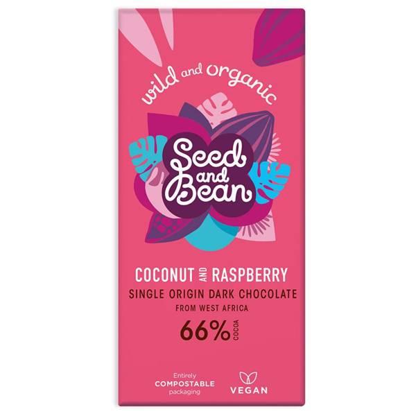Bilde av Seed & Bean Coconut and Raspberry 85 gram