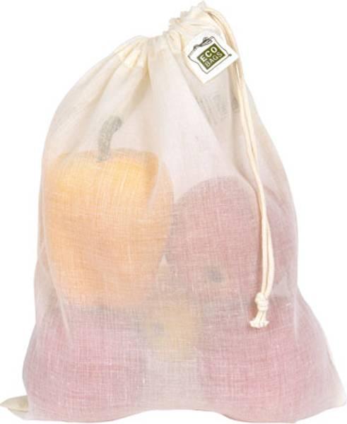 Bilde av ECOBAGS® 3x gjennomsiktig bomullspose Medium