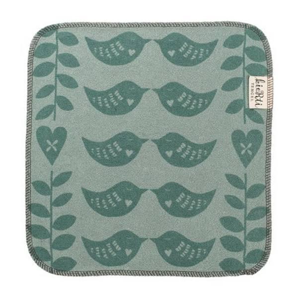 Bilde av Kierti Kjøkkenklut Tencel Hjertefugl grønn